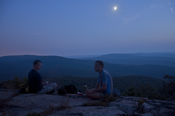 Two Hikers enjoy the View of Harriman State Park