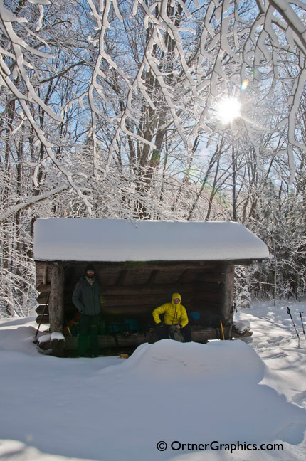 Adirondack Lean-To in the Winter