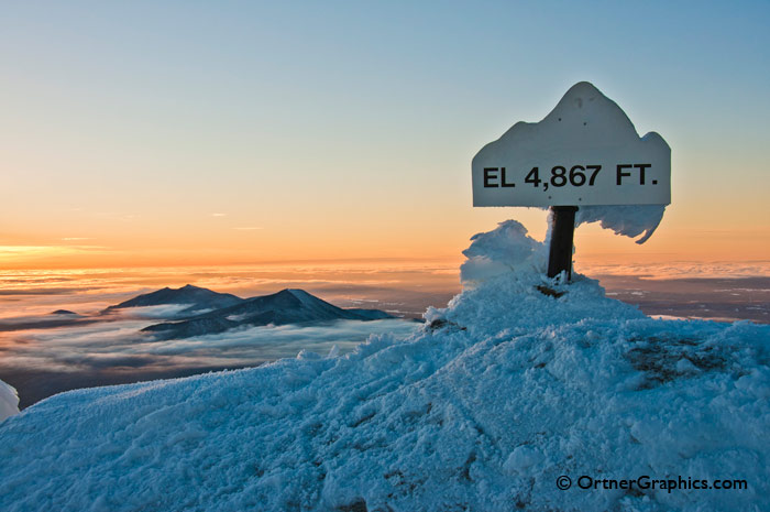 Whiteface Mountain Summit Marker