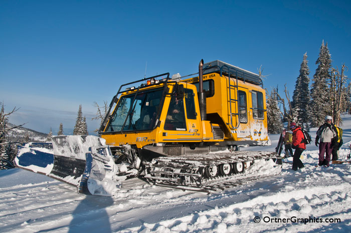 Photo of Snowcat on top of Mountain