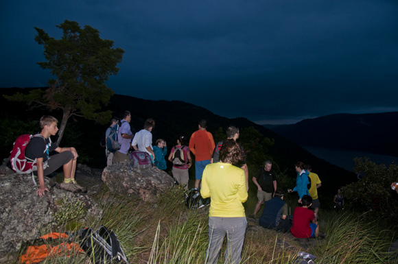 Hudson Valley Hikers Watch an Aproaching Storm