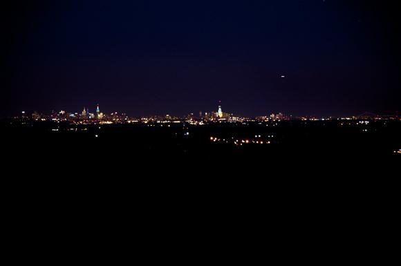 New York City Skyline at Night Fall