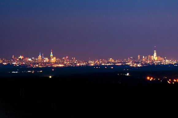 Manhattan Skyline at Nightfall