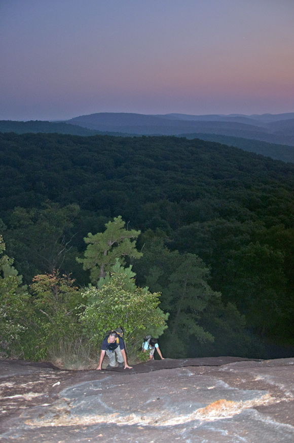 Two More Hikers Ascend the Bear Mountain Slab